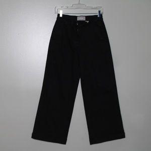 everlane women black wide leg pant SZ 6